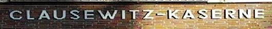Schriftzug Clausewitz-Kaserne am Eingangstor©Stadt Nienburg/Weser