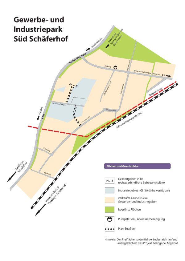 Gewerbegebiet Schäferhof©Stadt Nienburg