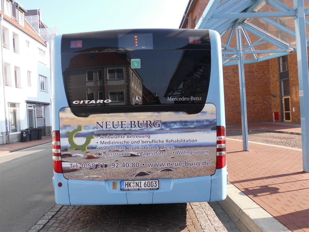 Buswerbung Stadtbus Nienburg